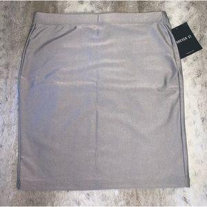 NWT Silver Bodycon Skirt